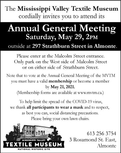 Featured image for Mississippi Valley Textile Museum AGM